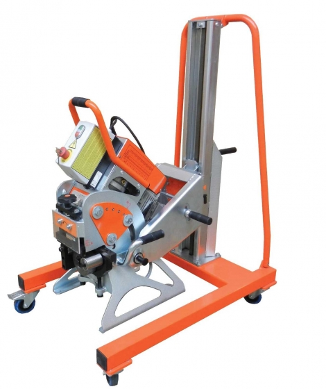 UZ 15 plate bevelling machine with trolley